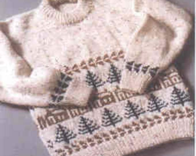 Country's Child Pattern 115: Cabin Fever child's sizes 4-10 and adult sizes 40-53 inches knitting pattern