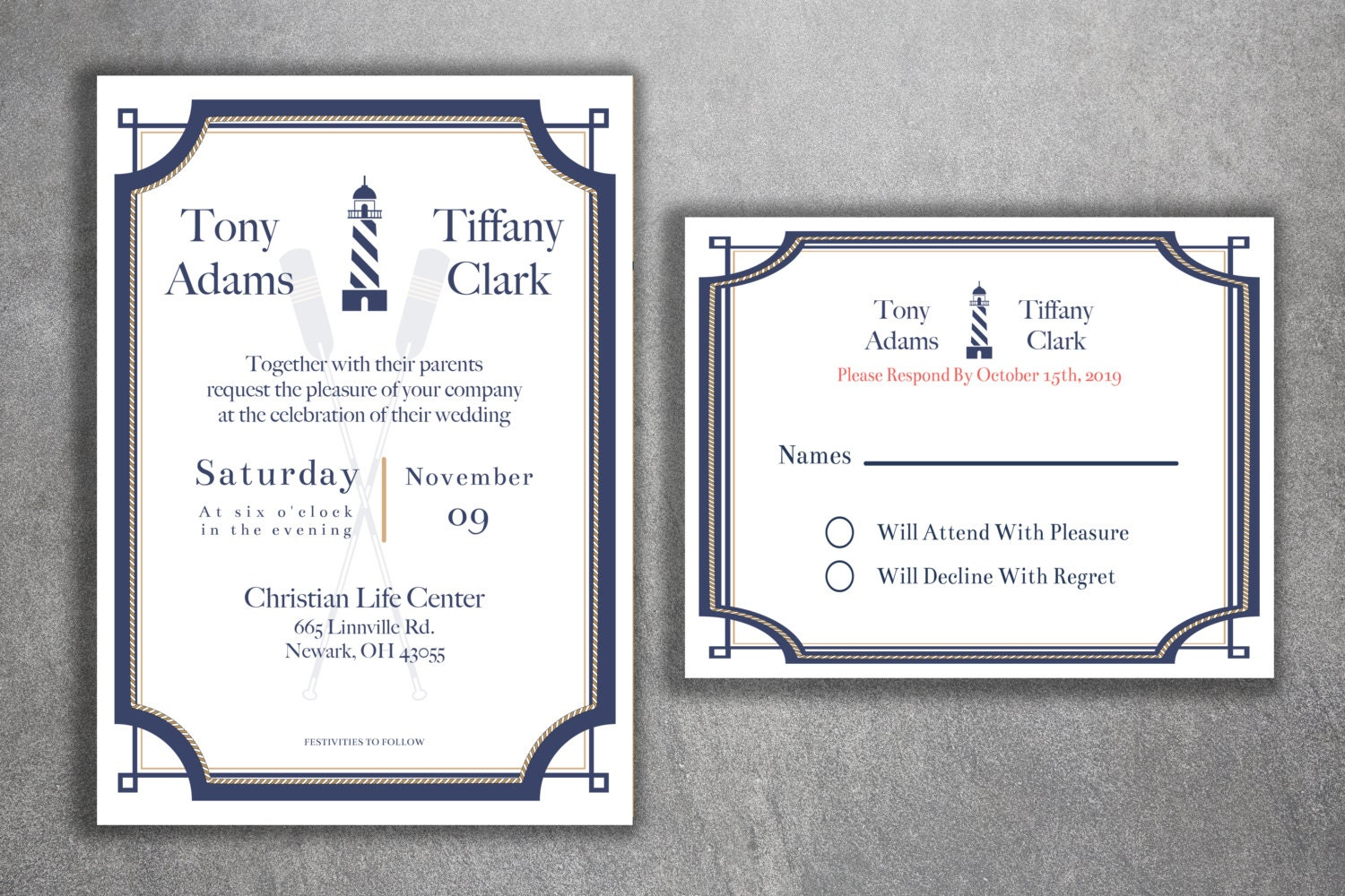 Affordable Wedding Invites: Nautical Wedding Invitations Set Cheap Wedding Invitations