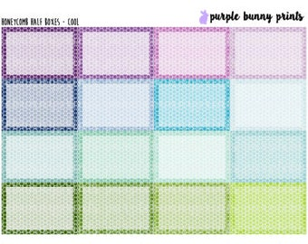 Honeycomb Half Boxes // Planner Stickers!