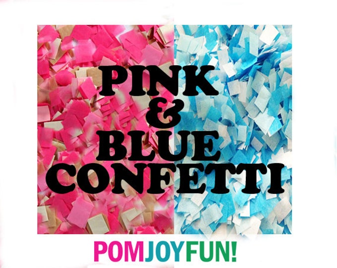 Pink and blue gender reveal confetti , Gender reveal ideas,  Custom Confetti , Gender Reveal Pinata Confetti