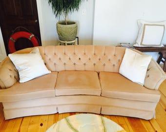 Gorgeous Faux Velvet Parlor Sofa