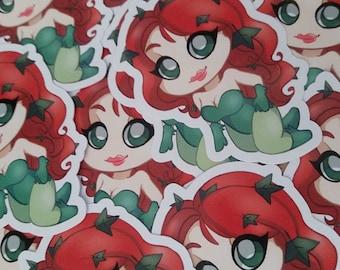 Poison Ivy Geeky Sticker Gift Nerd Geek Video Game DC Comics Laptop Custom Planner