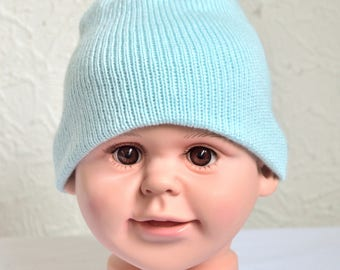 Hand made 100% cashmere baby hat