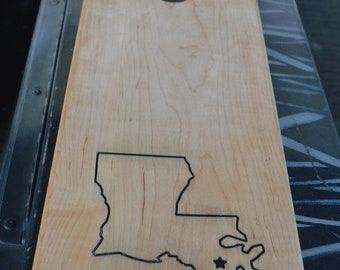 Cheese Board With Louisiana Inlay