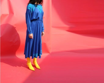 Blue Abstract Skirt Set / Medium