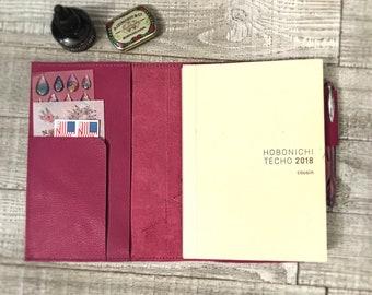 Hobonichi Cousin A5 cover - Leather Hobonichi A5 cover for Cousin - Hobonichi A5 planner cover - Hobonichi Techo cover