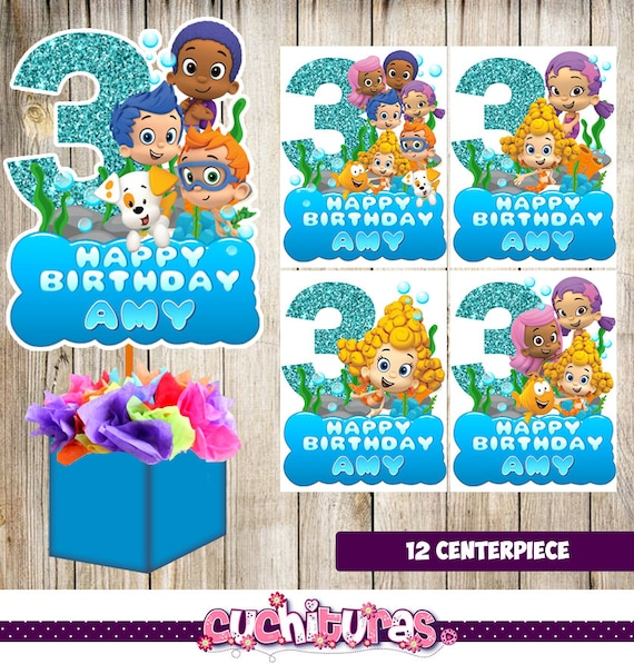 12 bubble guppies centerpiecesbubble guppies printable 12 bubble guppies centerpiecesbubble guppies printable centerpiecesbubble guppies party suppliesbubble guppies birthday decorations maxwellsz
