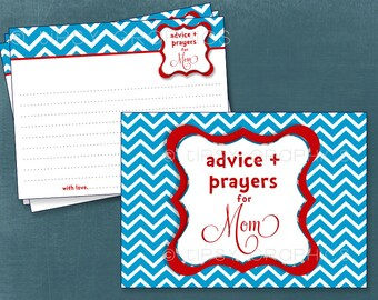 Dr. Seuss Chevron. Advice & Well Wish Cards. Printable Cards by Tipsy Graphics. Any Colors
