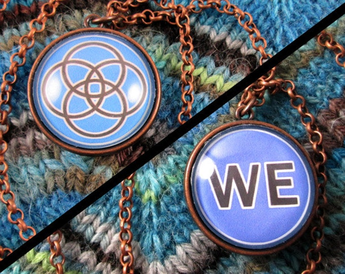 Double-Sided Necklace - Multiplicity - Blue & Copper