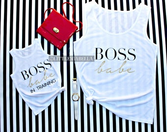 Boss babe, mommy and me shirts, mommy and me outfits, mommy and me, mother daughter outfits, matching shirts, boss lady, matching family,