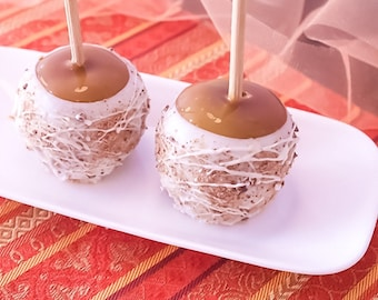 Chocolate Covered Caramel Apples in Milk or White Chocolate