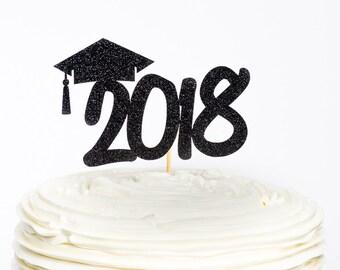 2018 Cake Topper, Graduation Topper, Graduation Cake Topper, Graduation Party, New Year Cake Topper, Graduation Party Decor, Graduation
