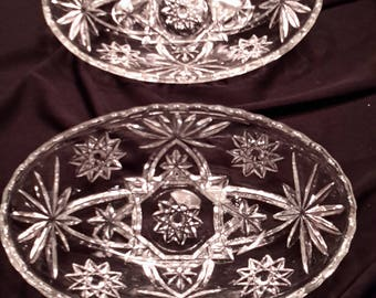 Anchor Hocking oval glass bowls