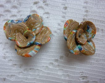 SET OF 2 SMALL FLOWERS COLOR FLESH