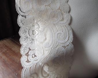 Latte Chantilly Lace Vintage Style for Bridal, Veils, Lingerie, Invitations, Costume Design  CH 20