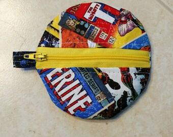 Marvel Comics keychain coin purse