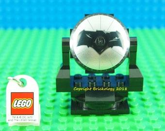 Lego Bat Signal Black With Batman Dish Insignia Logo 360 Rotating Brick Model Dark Knight Version