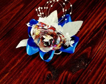 Comic Corsage Formal Dance Comic Book Prom Wristpiece