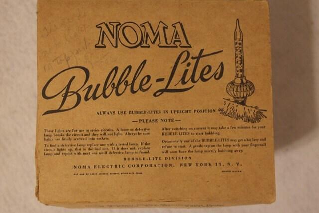 NOMA Bubble Lites Christmas Tree Light Bulbs For Vintage Trees