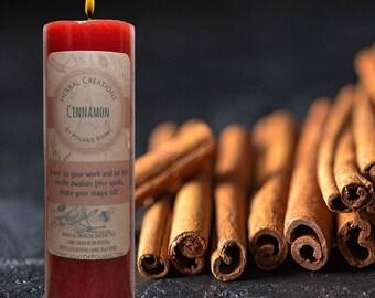 Cinnamon Pillar Candle