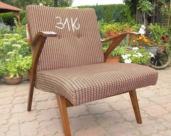 31K Retro Vintage arm chair of Czech  produced around 1950-60th
