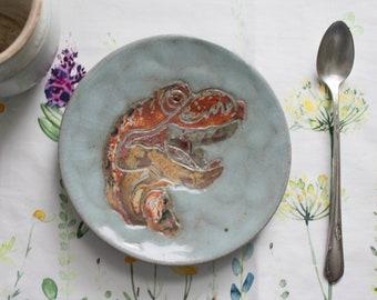 Tyrannosaurus Rex Dessert Plate (Shino)