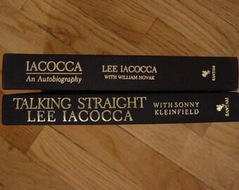 Lee Iacocca An Autobiography Straight Talk Chrysler Corp. Ford Motor Co. William Novak Sonny Kleinfield  Bantam Books