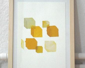 Basic shapes – Original ink drawings – series of three – varying sizes < A4