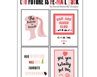 The Future is Female Note Cards