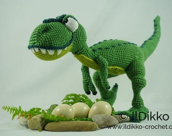 Amigurumi Crochet Pattern - T-mothy the T-rex - English Version