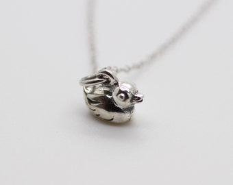 RUBBER DUCKY NECKLACE - 925 Sterling Silver - Animal Swan 3D Duck Charm Duckling