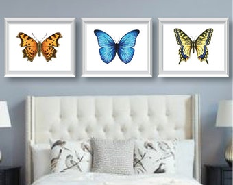 Watercolor Butterfly Art - Bedroom Art - Bathroom Art - Nursery Art - Butterfly Bedroom Decor - Butterfly Art - Butterfly Decor - NS-647