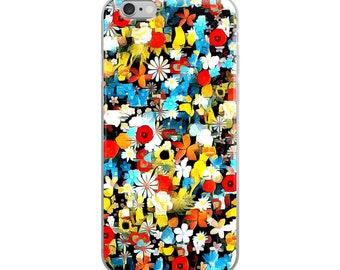 Floral Aqua iPhone Case