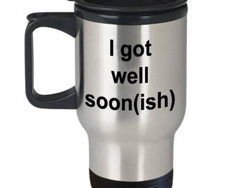 Got Well Soon Travel Mug | Get Well Soon Gifts | Get Well Gifts | Get Well Messages | Get Well Soon Funny | Get Well Wishes | Just Beat It
