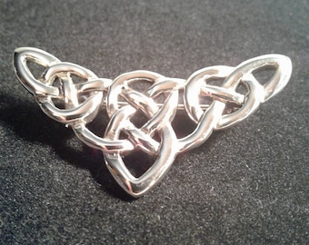 Sterling silver Celtic Knot work pin