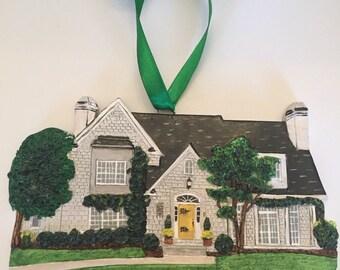 Custom House Christmas Ornament/ Unique Gift Idea/ Personalized Home Ornament