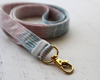 Lanyard - cute lanyard - ID badge holder - ombre lanyard - gradient lanyard - teachers lanyard - school ID lanyard - key fob lanyard