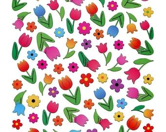 Tulip Flower Stickers • Tulip Sticker • Botanical • Blossoms • Spring • Gardening • Floral Sticker (SK4303)