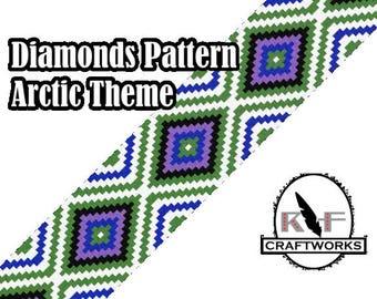 Loom Beading Pattern - Diamonds (Arctic Theme)
