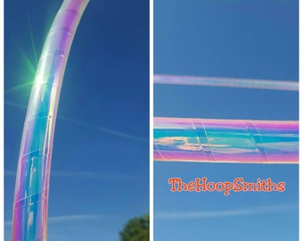 Color Shifting Wrapped Hula Hoop Polypro HDPE Sapphire Sunrise By TheHoopSmiths