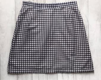 Handmade high waisted gingham check skirt. UK sizes 4-18 (US 0-14). Various colours available, made to order.