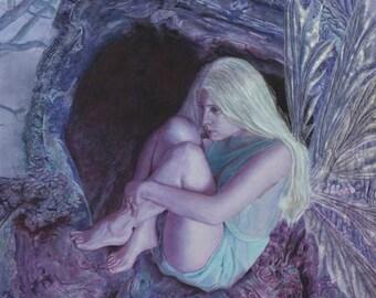 Woodland Faery Fine Art Faery Fantasy Giclee Print