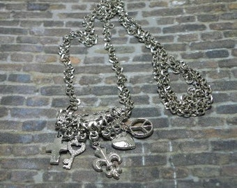 Silver Charmed Necklace