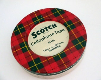 Vintage Scotch Cellophane Tape Tin