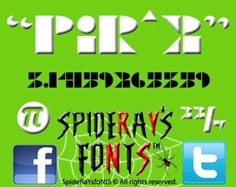 Pi R Squared Commercial Font
