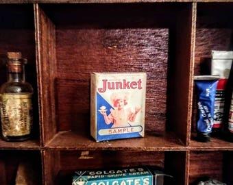 Vintage Junket Rennet Custard Sample Box
