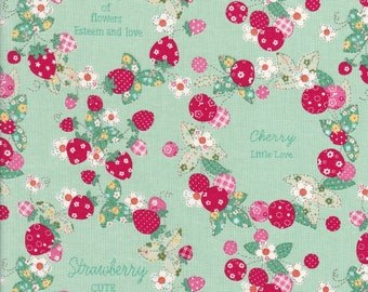 Cherry Fabric - Strawberry Fabric - Word Fabric - 30's Collection Spring 2018 - Atsuko Matsuyama - Yuwa