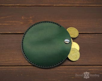 Leather coin purse Green coin pouch Coin wallet SW0071g