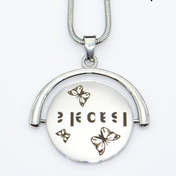 Silver spinning pendant personal necklace secret code silver spinning pendant personal necklace secret code necklace gifts for her mother daughter gifts dmy secret spinning necklace only 79 mozeypictures Images