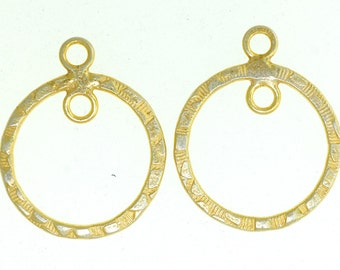 Sterling silver vermeil earring components, Silver earring components, Gold earring components, Vermeil findings. 2 pieces.
